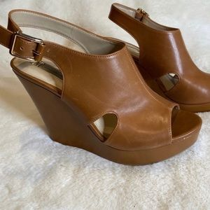 NWOT INC International Concepts Leather Wedges